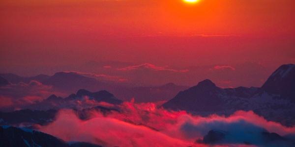 Eindrucksvoller Sonnenuntergang am Hochkönig