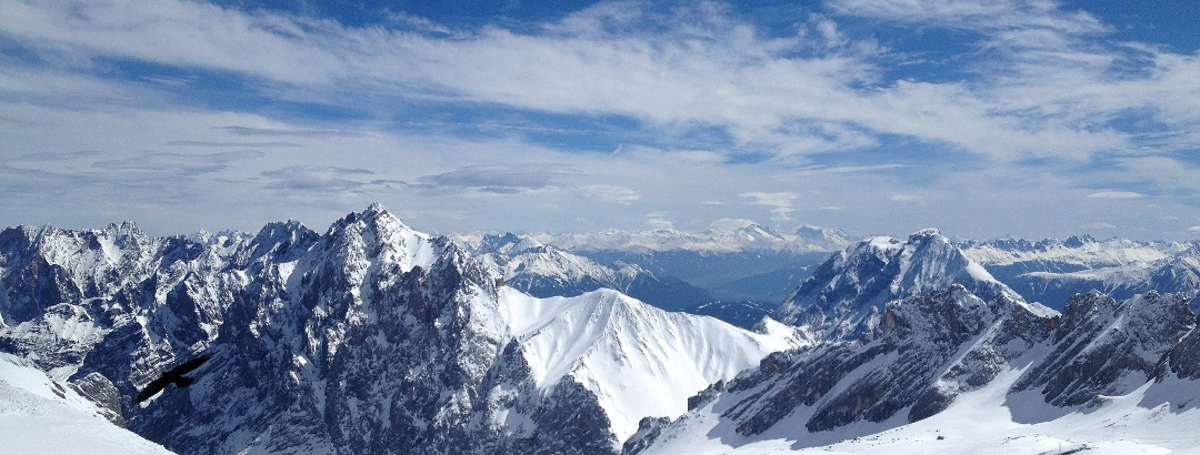 Skiing on Germany's highest mountain