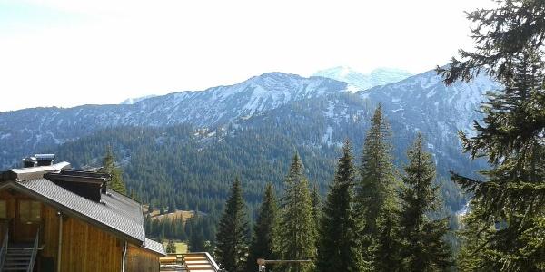 Die Gufferthütte - Blick nach Süden