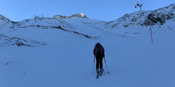 Beginn der Skiroute