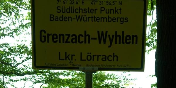 am südlichsten Punkt Baden-Württembergs