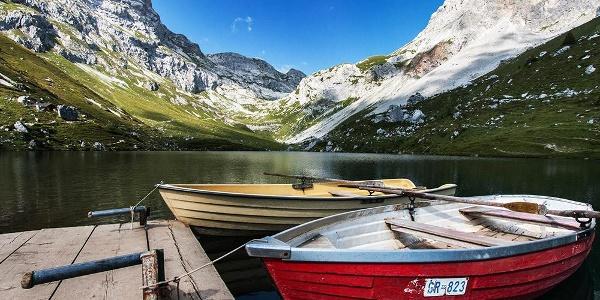 Boote stehen zur Ausleihe parat