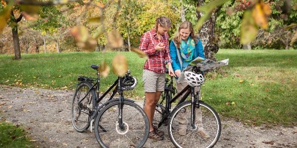 Radfahren inmitten des Schwäbischen Streuobstparadieses