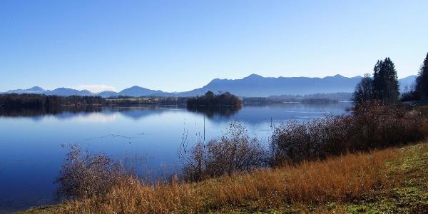 Blick zur Insel Mühlwörth