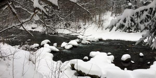 Verschneite Winterlandschaft in St. Anton im Montafon