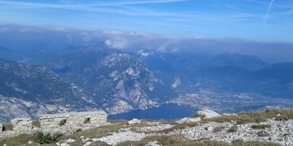 View on Garda Trentino from Monte Altissimo