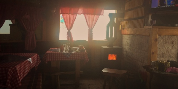 Warm wooden coffee place