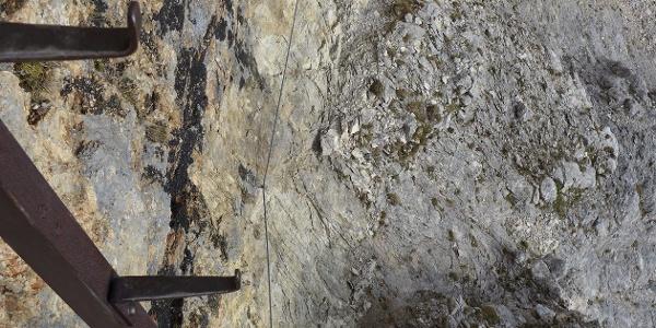 Haidsteig: Querung zum zweiten Eisensteigbaum