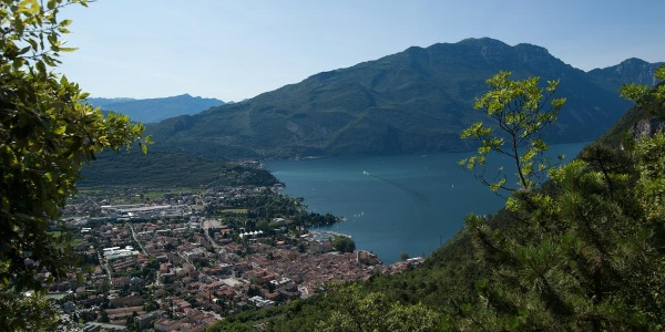 View on Riva del Garda and upper lake Garda