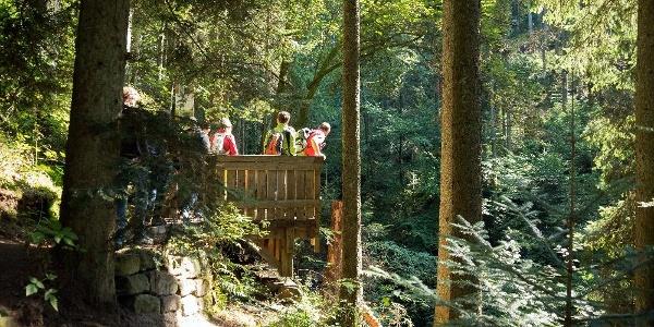 Naturpark-Augenblick-Runde Holzbronn_Aussichtskanzel mit Blick in die Xanderklinge