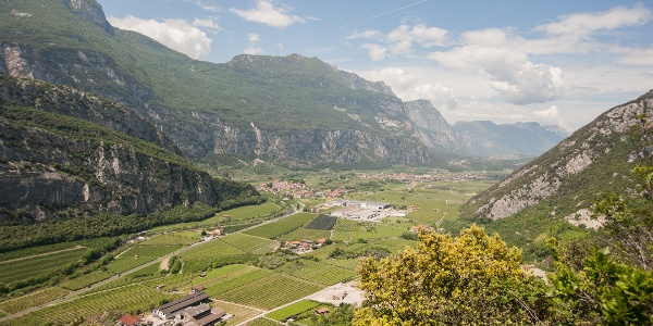 "The Sarca Valley, view from the ""Schoolteacher's Trail"""