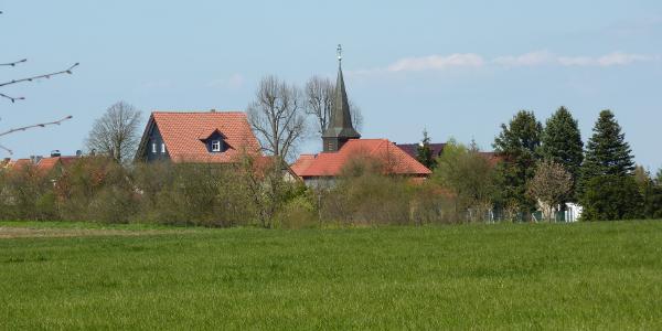 Fürstenhagen mit Kirche und Gasthof