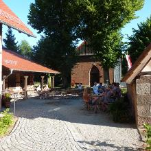 Biergarten des Gasthofs