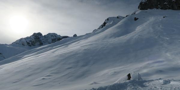Super Gelände nach der steilen Einfahrt