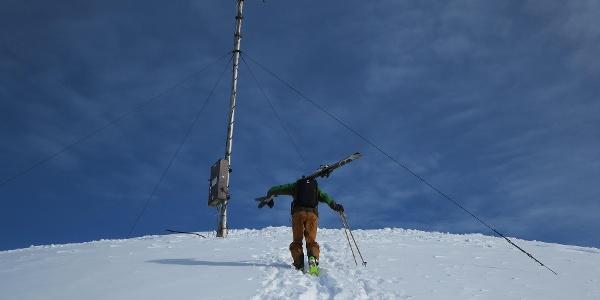 Der Aufstieg zur Antenne