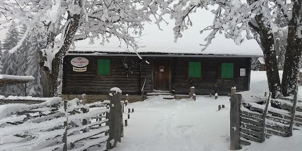 Knödelhütte im Winter