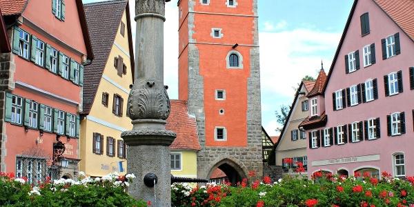 Brunnen in der Altstadt von Dinkelsbühl