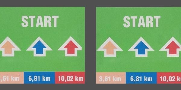 Starttafel/Wegmarkierung