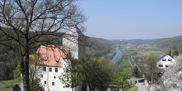 Blick von der Burg Prunn ins Altmühltal