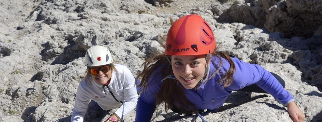 Alpinklettern in Gröden