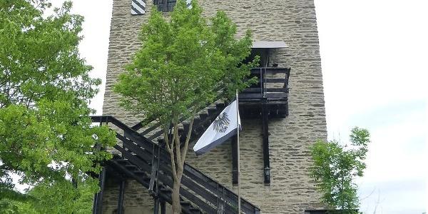 Burg Laurenburg von der Westseite mit Außentreppe