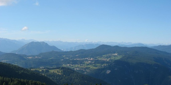 L'altopiano di Lavarone dal Passo della Vena
