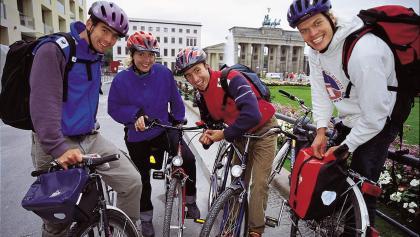 Beginn der Tour am Brandenburger Tor