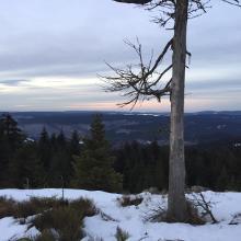 Sonnenuntergang an der Seilerklippe