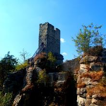 An der Burgruine Weißenstein