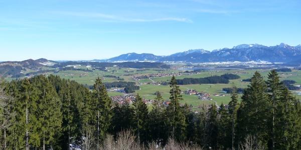 Der Ausblick von den Ruinen Eisenberg und Hohenfreyberg