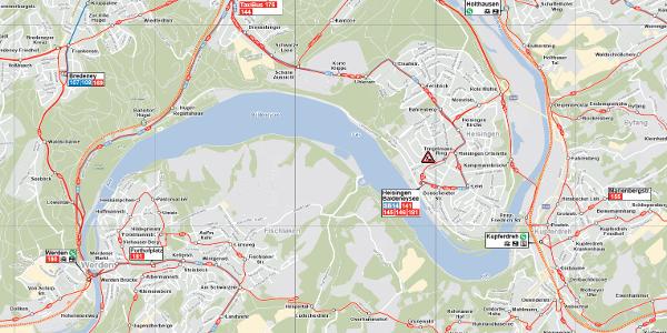 Essen-Baldeney-See - VRR-Anbindungen
