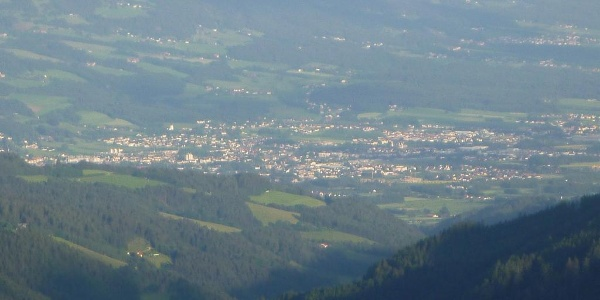 Klippitztörl-Blick auf Wolfsberg