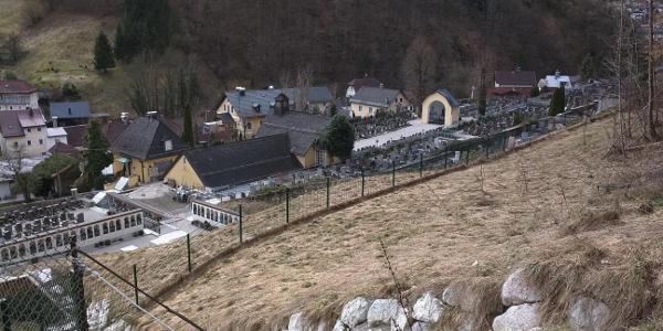 Bergfriedhof Ebensee vom Bartlbergweg