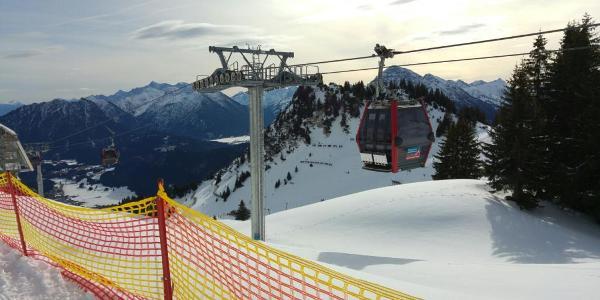 Bergstation der Reuttener Seilbahn auf 1.730 m