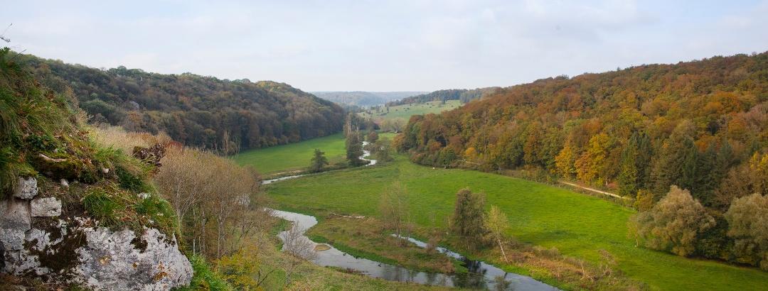 Blick vom Falkenstein ins Eselsburger Tal
