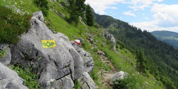 Am Austriaweg Richtung Stuhlalm