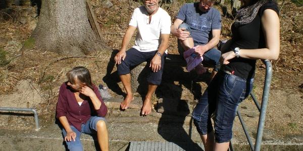 Am Wassertretbecken