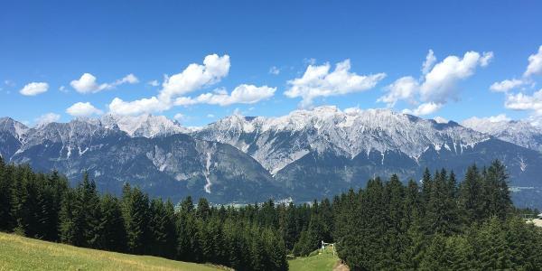 Blick auf das Karwendelgebirge