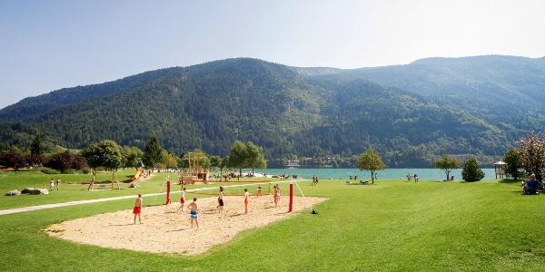 Der grüne Strand am Molvenosee