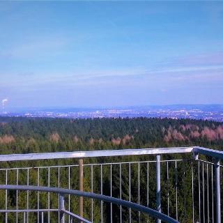 Blick vom Aussichtsturm Richtung Chemnitz