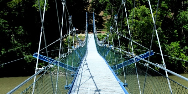 Hängebrücke Altusried - Pfosen