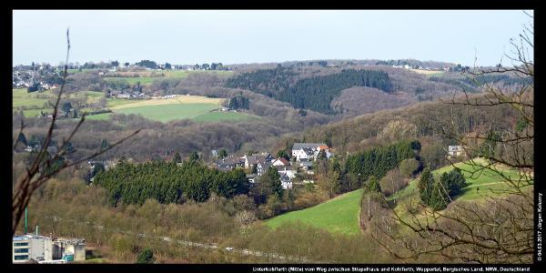Unterkohlfurth (Mitte) vom Weg zwischen Stiepelhaus und Kohlfurth