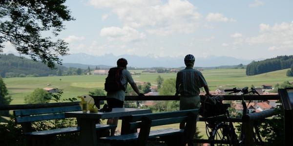 Aussicht entlang des Sachsenrieder Bähnles