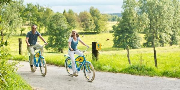 Radfahrer im Monschauer Heckenland