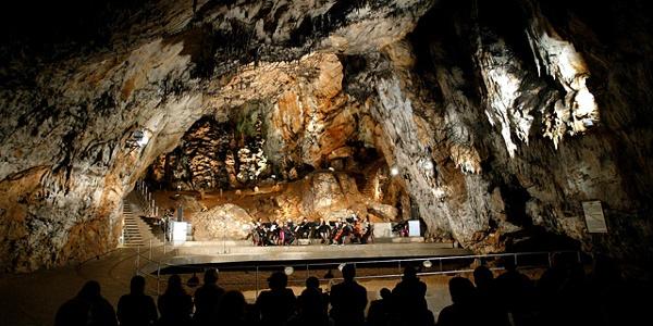 Der Konzertsaal der Baradla-Höhle