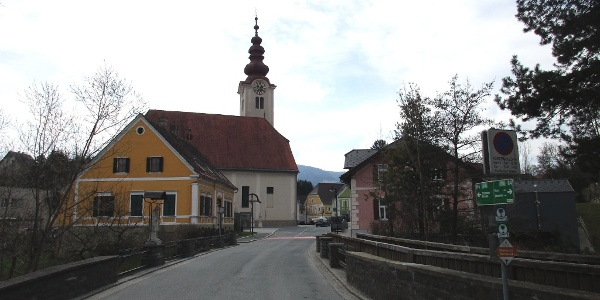 Eibiswald, Johannesbrücke und Pfarrkirche