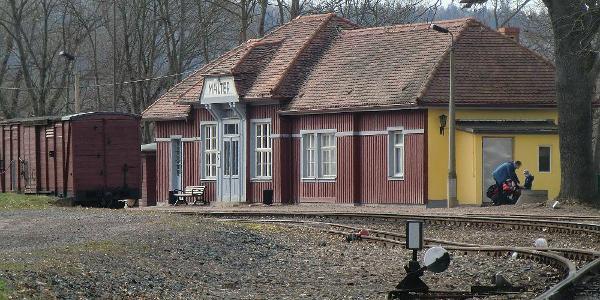 Der ehemaligen Bahnhof  Malter ist heute nur noch ein Haltepunkt