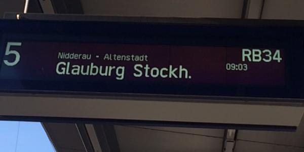RB34 von Frankfurt nach Stockheim