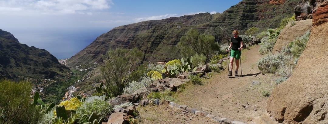 Auf dem Höhenweg das Valle Gran Rey entlang