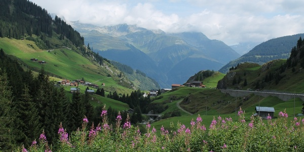 Ein Blick zurück im Val Medel